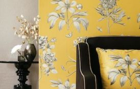 Etchings And Roses Yellow Wallpaper2